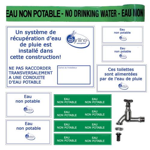 Kit marquage de s curit r cup ration eau de pluie - Eau de pluie potable ...
