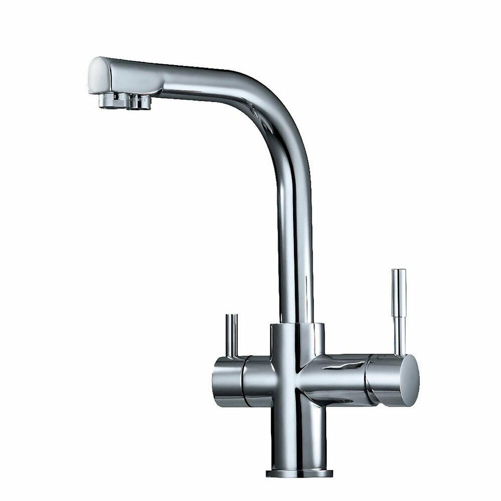 robinet mitigeur 3 voies 90 chrom avec sortie eau filtr e. Black Bedroom Furniture Sets. Home Design Ideas