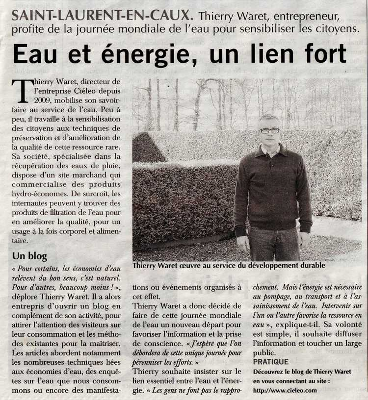 Paris-Normandie parle de Cieléo